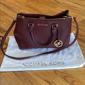 Burgundy Michael Kors purse!